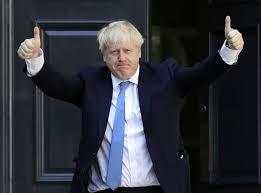 Prime Miniter, Boris Johnson giving the thumbs up